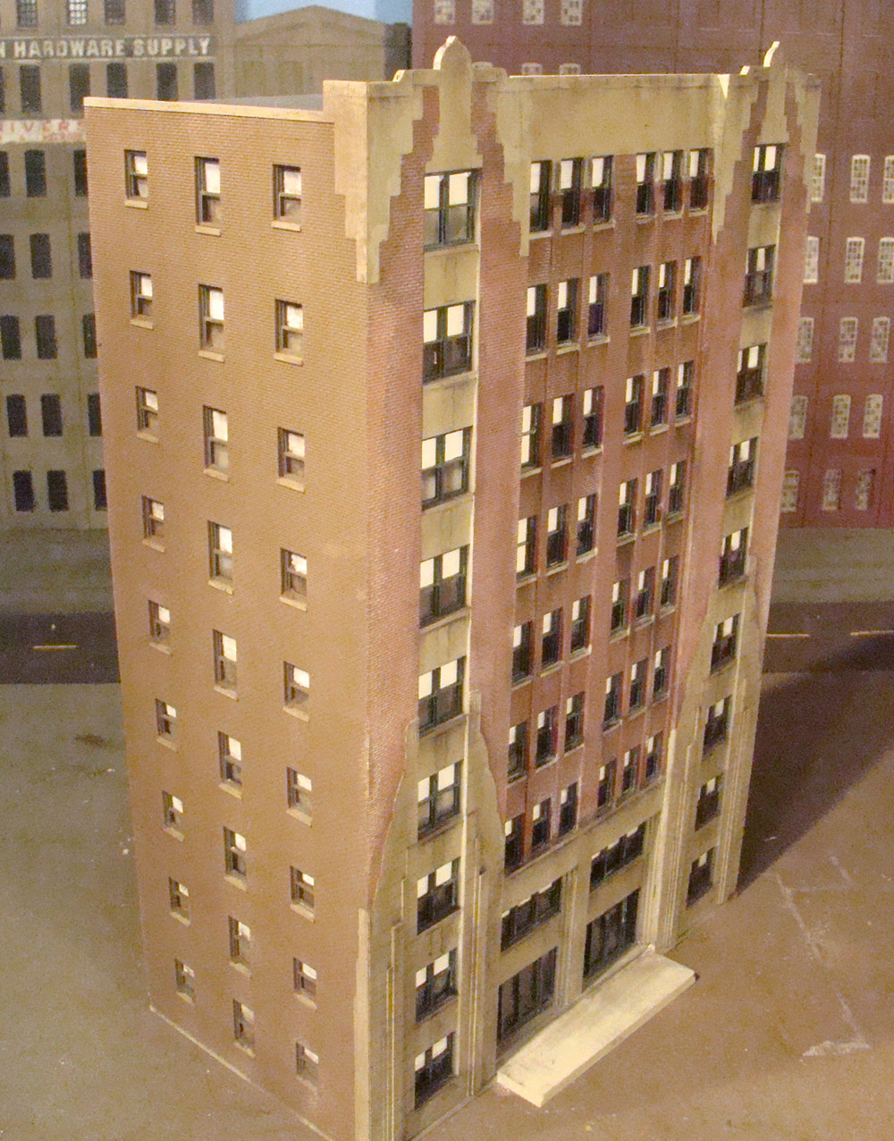 ho scale walthers city apartment building pjs train shack