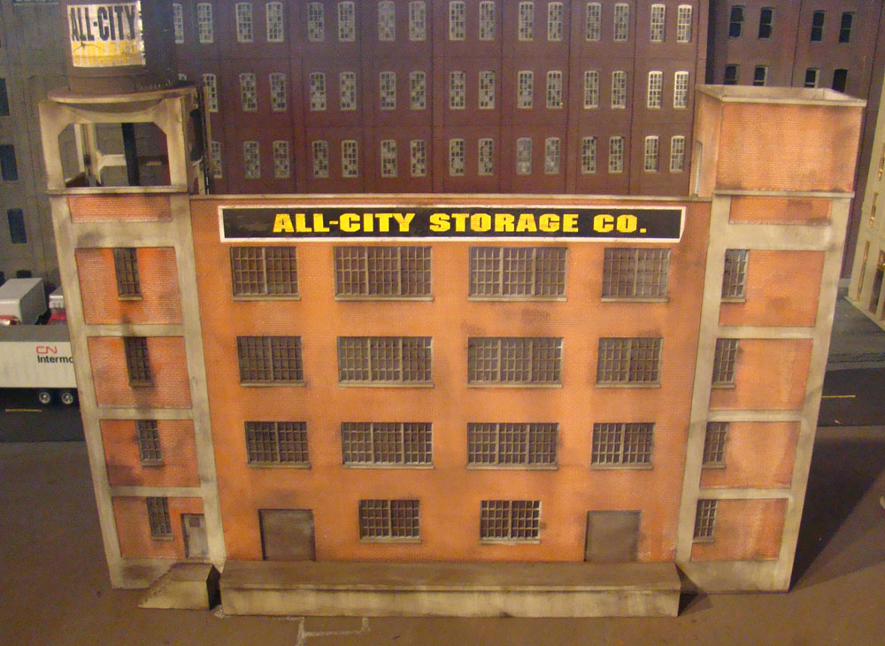 HO Scale Walther River City Textiles Background Building