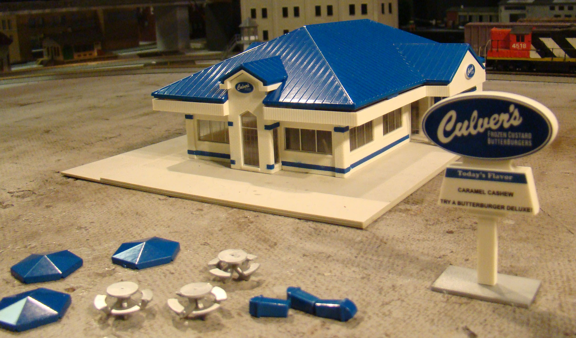 Walthers culvers restaurant pjs train shack for Ford s fish shack menu